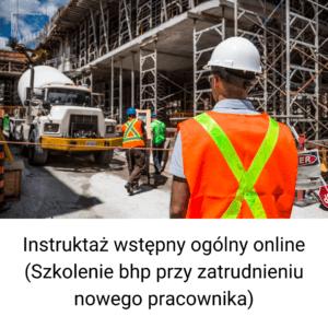 Instruktaż wstępny ogólny online
